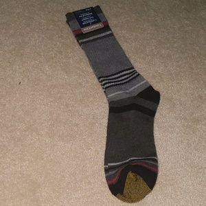 Brand new gold toe striped long socks